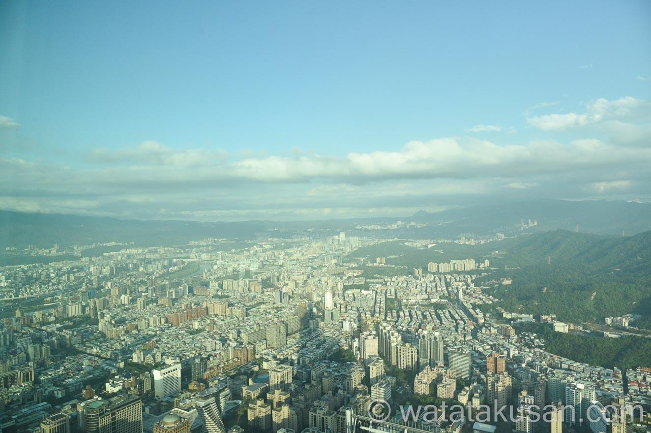 台湾の台北101からの景色