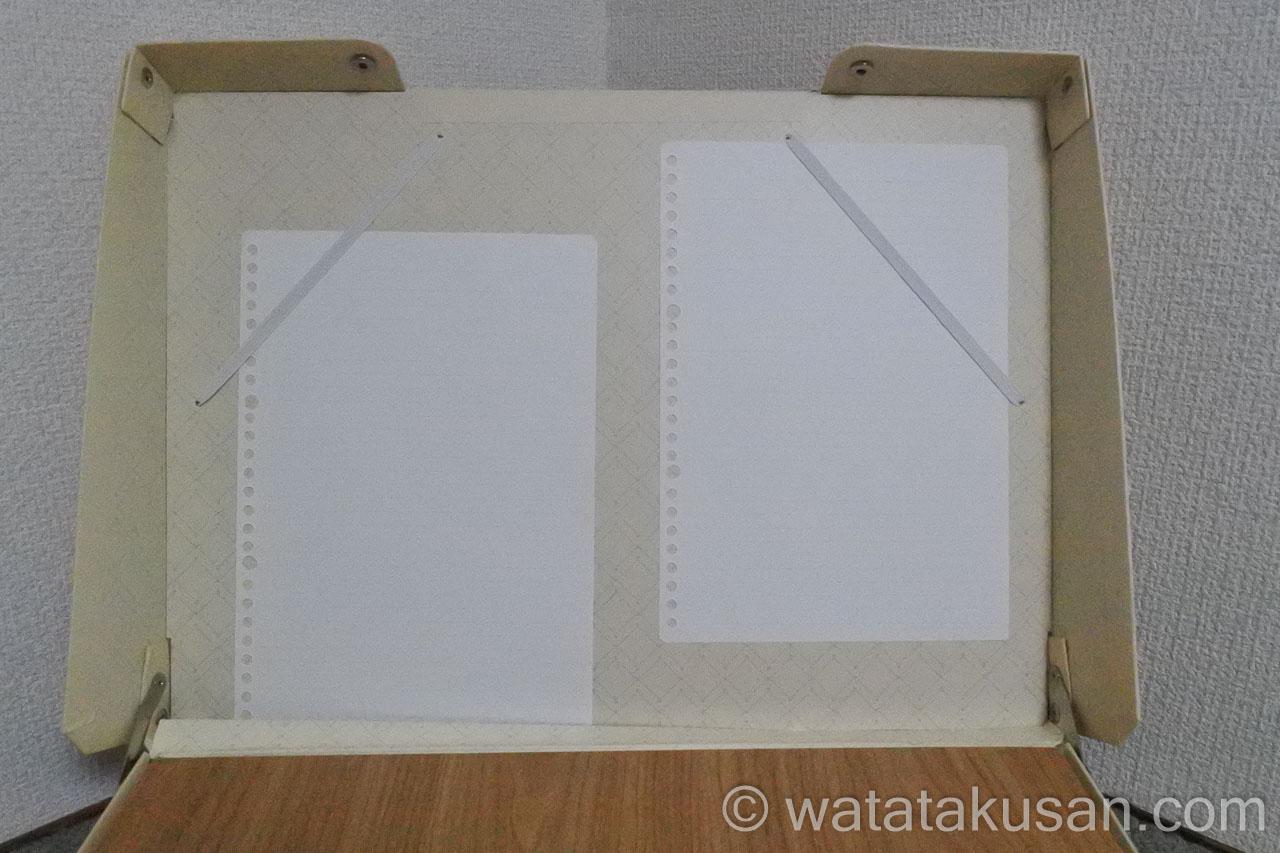 どこでも学習台2のブックスタンドにB5の紙を固定