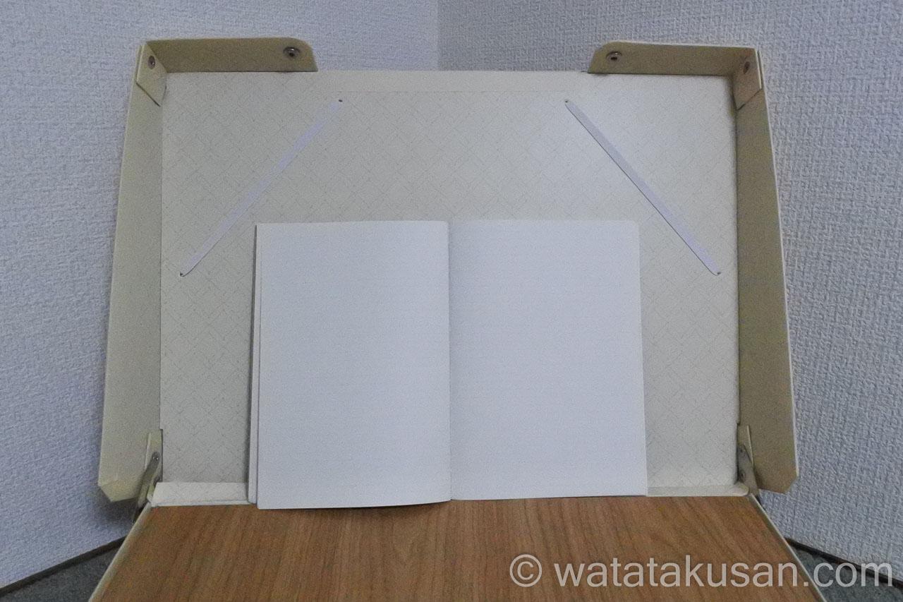 どこでも学習台2にA5サイズのノートをを固定